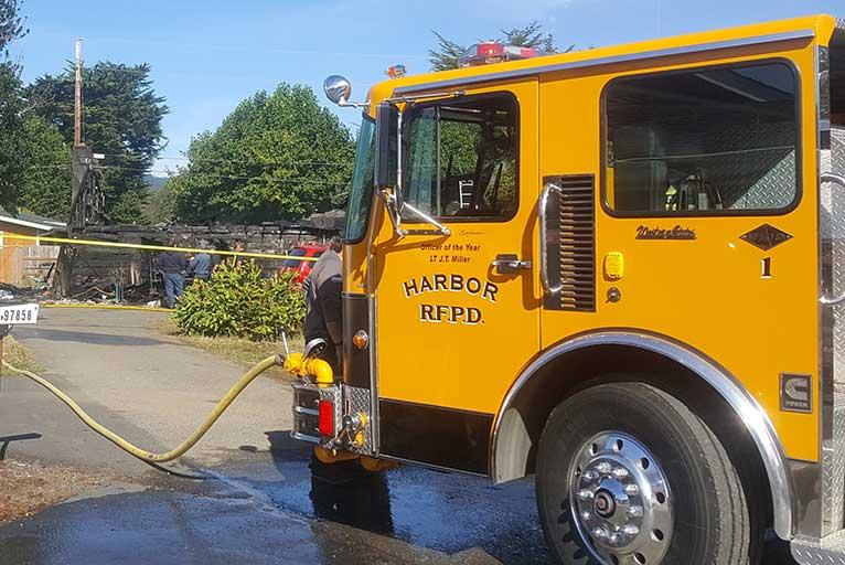 Harbor Home Burns Sunday Wild Coast Compass