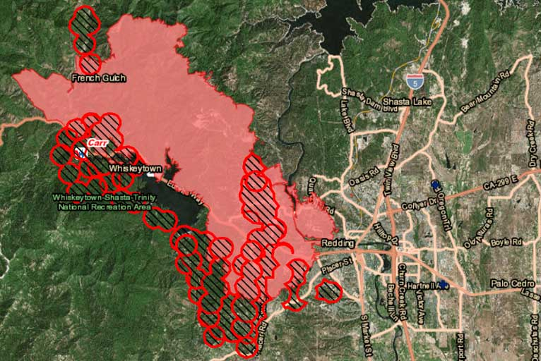 Carr Fire Continues to Rage Update Saturday 7 28 18 Wild Coast pass