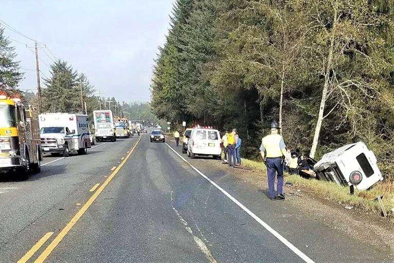 Crash Scene Closes Hwy  101 - Wild Coast Compass