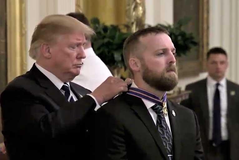 President Trump Awards OSP Officer 'Medal of Valor' - Wild